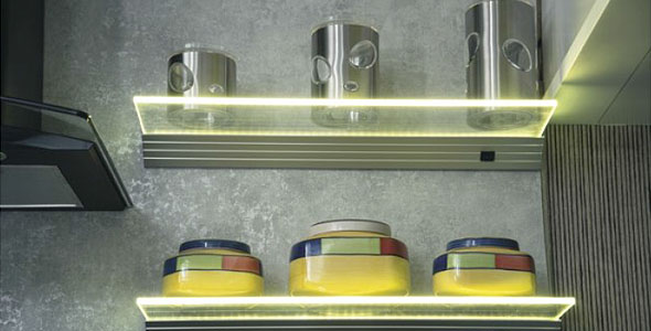 Led Light Shelf Touch Senson Led Light Led Driver Modern Kitchen