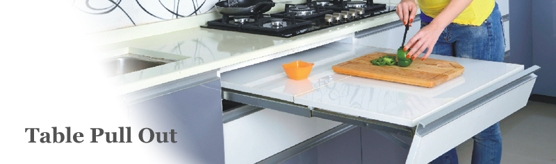 Pull Out Kitchen Table table pull out - modern kitchen, modular kitchen - signet kitchen