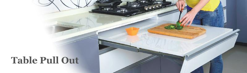 Table Pull Out Modern Kitchen Modular Signet Nashik