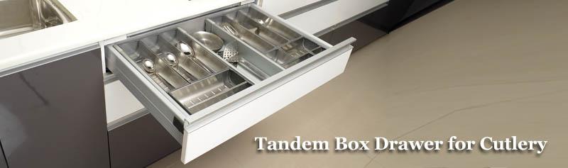 Modern Box Drawer Tandem Box Drawer Cutlery